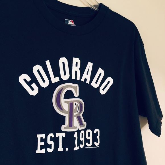 online store be97e 45af2 SALE!! MLB | MENS Colorado Rockies Embroidered Tee
